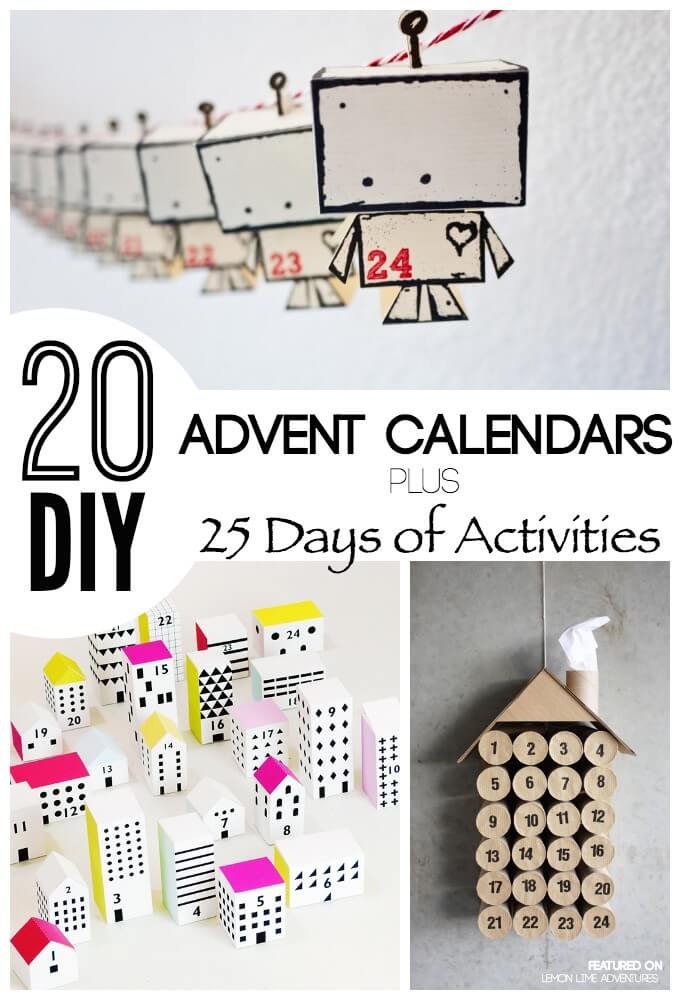 Calendar Ideas Diy : Awesome diy advent calendar ideas days of