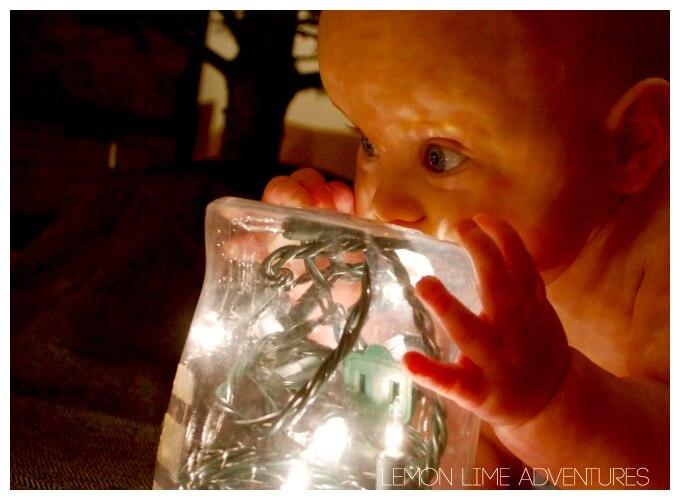 Baby Christmas Sensory Play