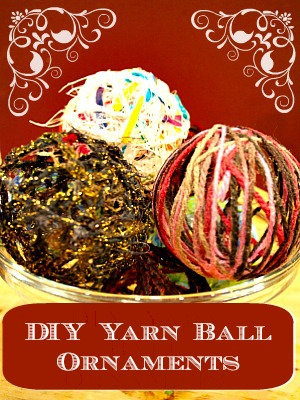 diy yarn ball ornaments