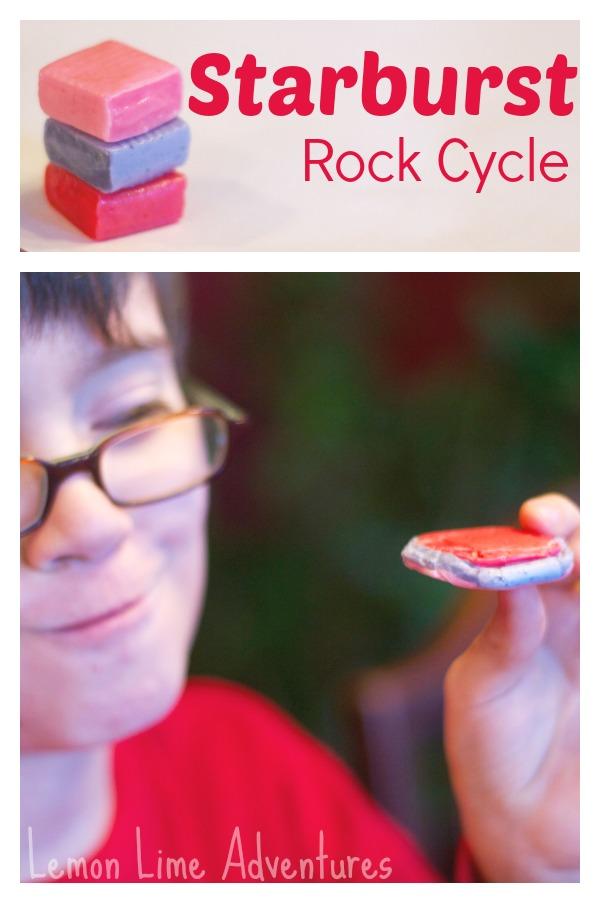 Starburst Rock Cycle for Kids