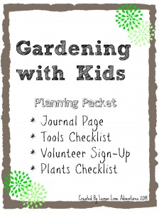 Gardening with Kids Planning Packet