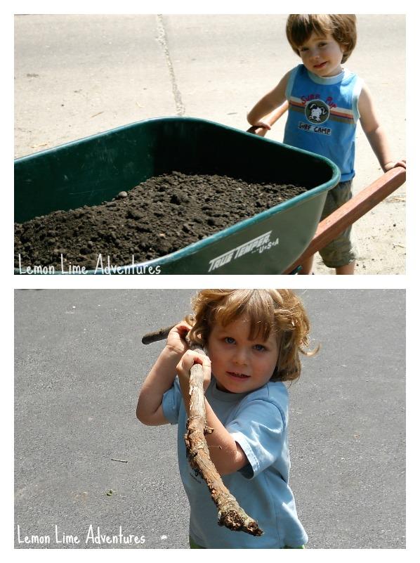 Heavy Sensory Work In the Garden