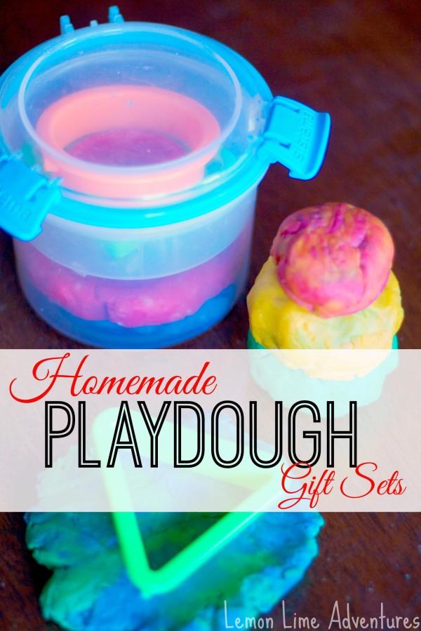 Homemade Playdough Gift Sets