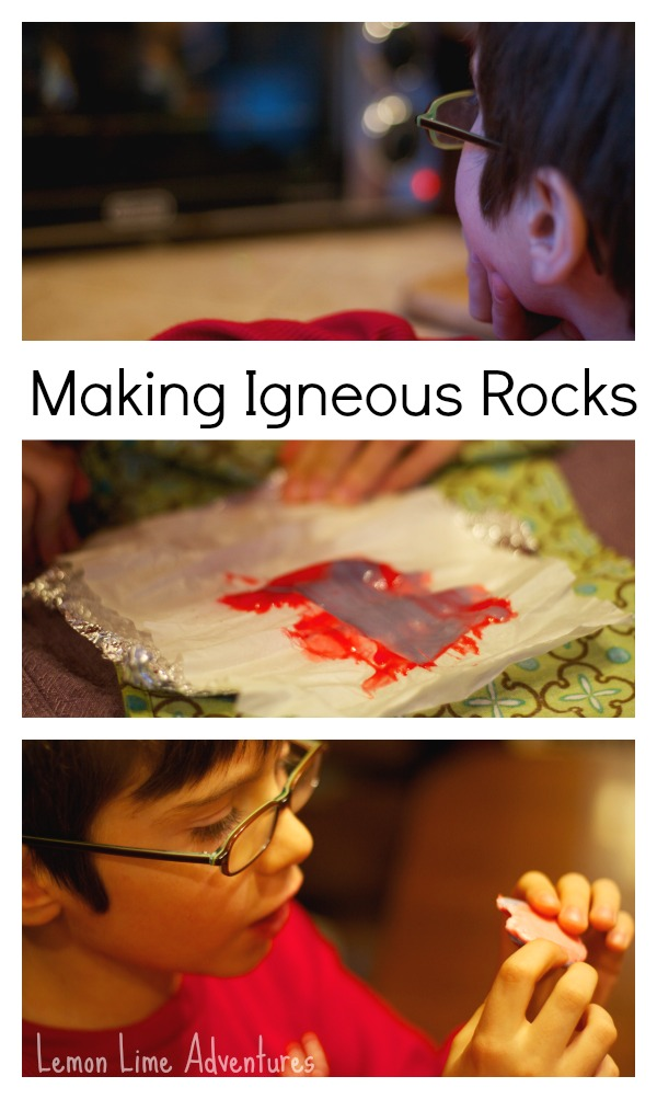 Rock Cycle for Kids: Making Igneous Rocks with Starburst