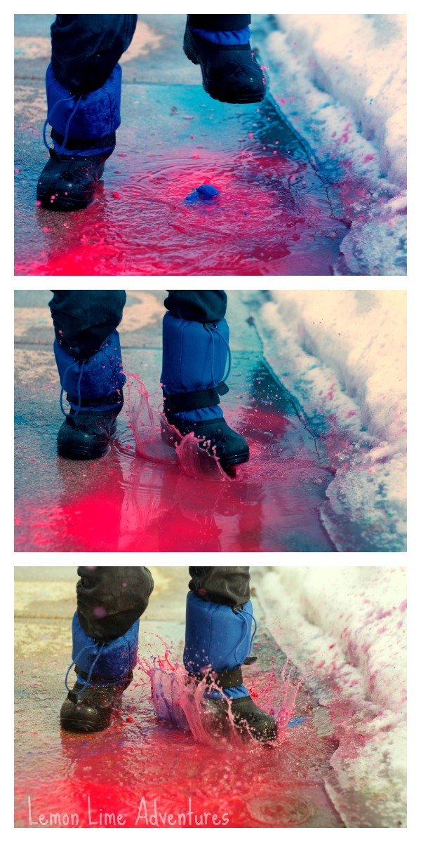 Puddle Stomp Painting