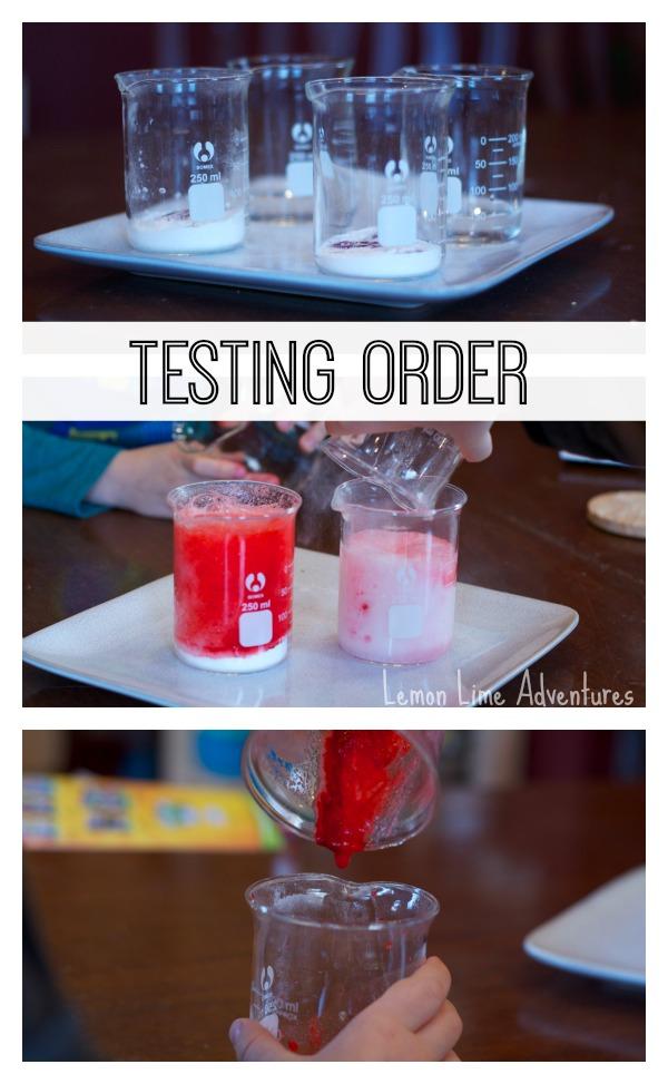 Simple Science Testing Order