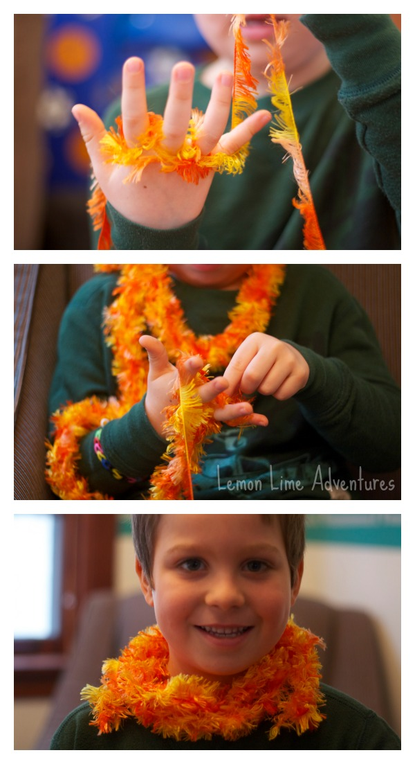 The Lorax Finger Knitting