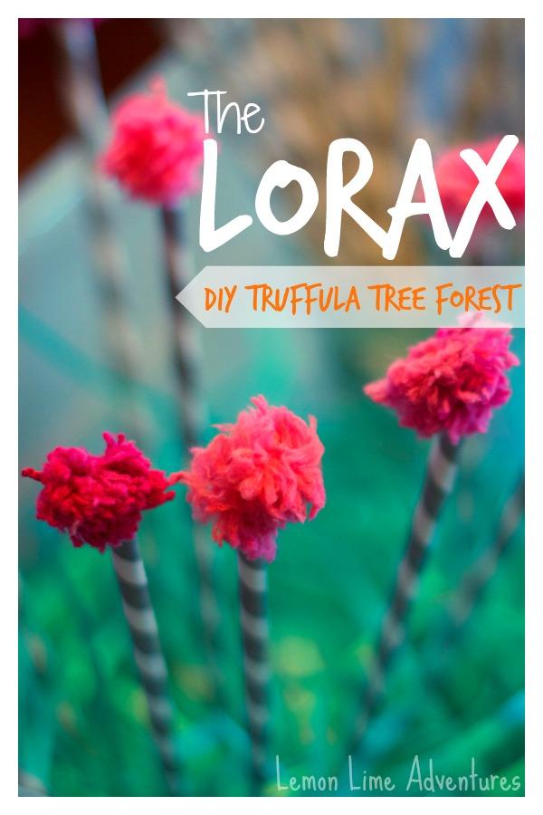 lorax truffula tree forest sensory bin