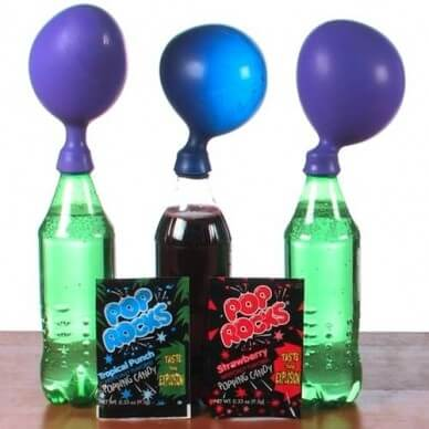 Pop Rocks Ballon Experiment
