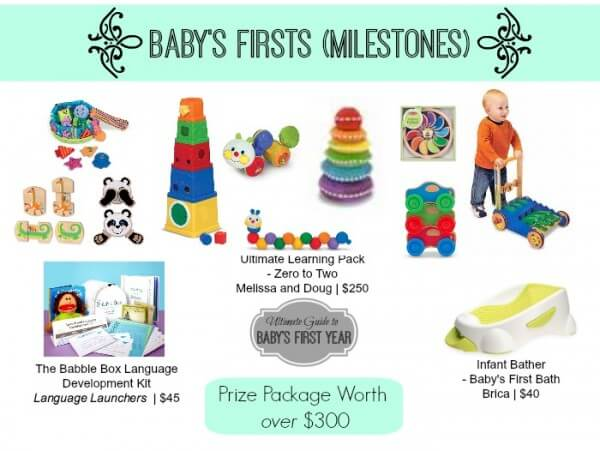 Babys firsts milestones giveaway
