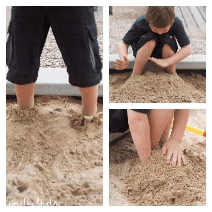 Sand Play Bury and Jump Game