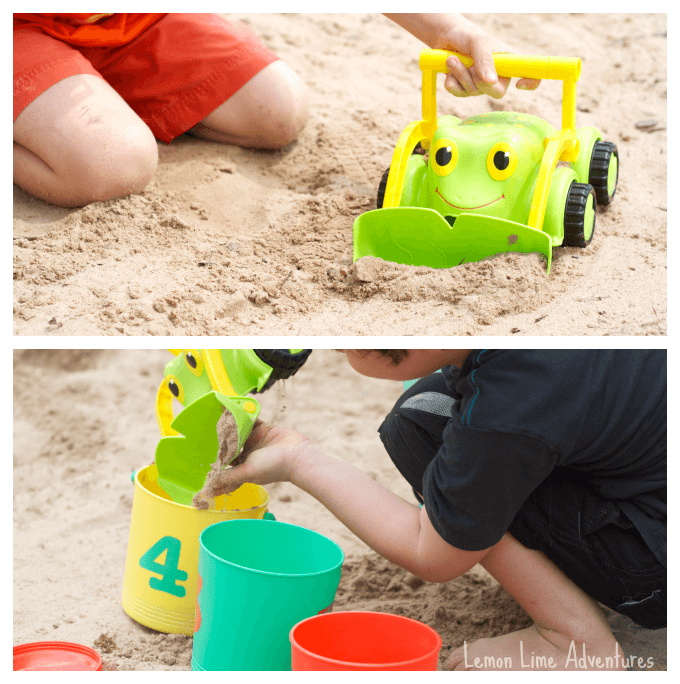 Sand Play Ideas Push and Dump