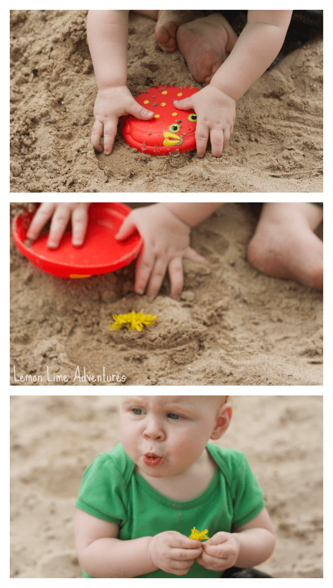 Sand Play with One Year Olds