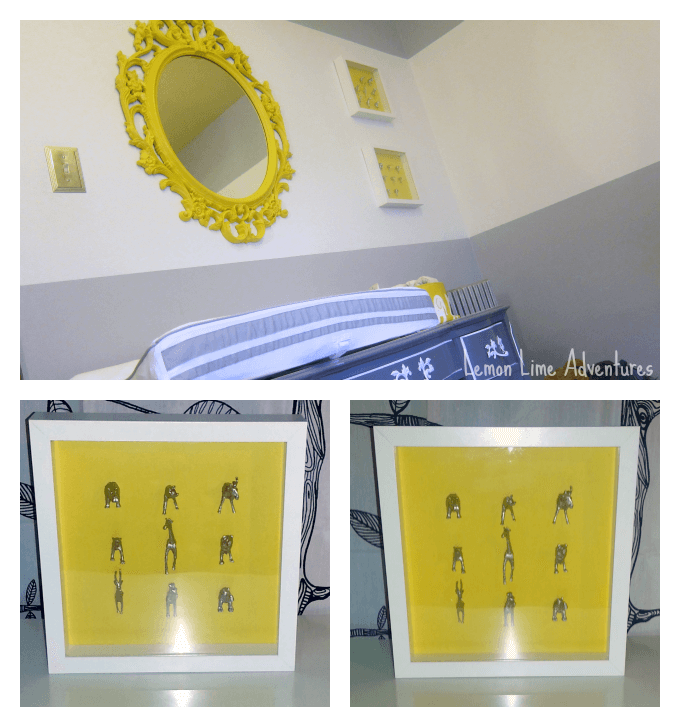 Yellow and Grey Nursery Decorations