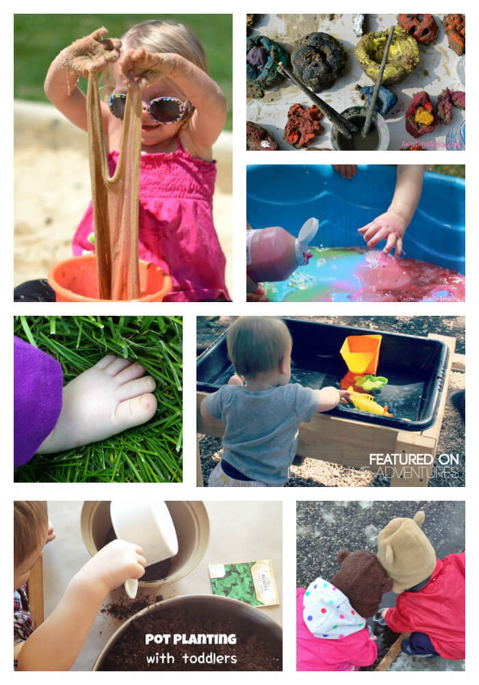 Outdoor play ideas and activities for babies.