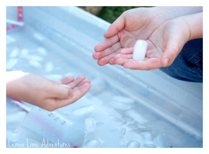 Icy Sensory Bin Tactile Senses