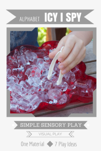 Simple Sensory Play | Icy Alphabet I Spy