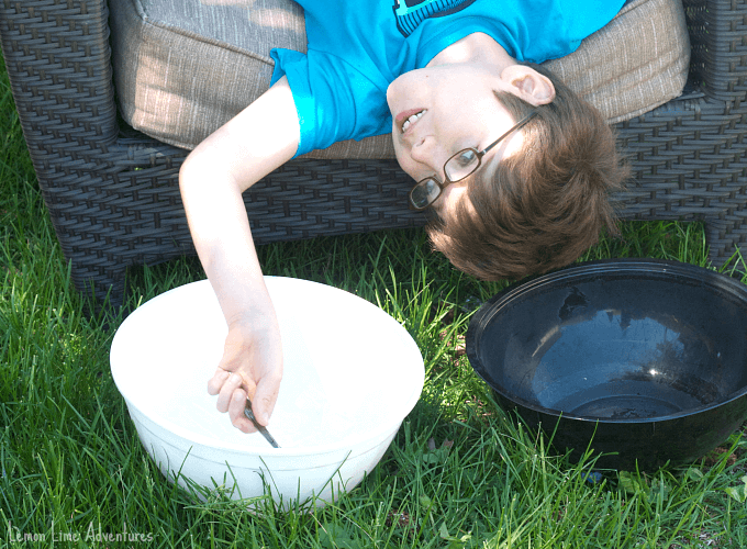 Vestibular Sensory Play with Ice