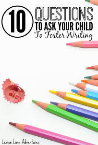 10 Questions to Foster Writing in Young Children
