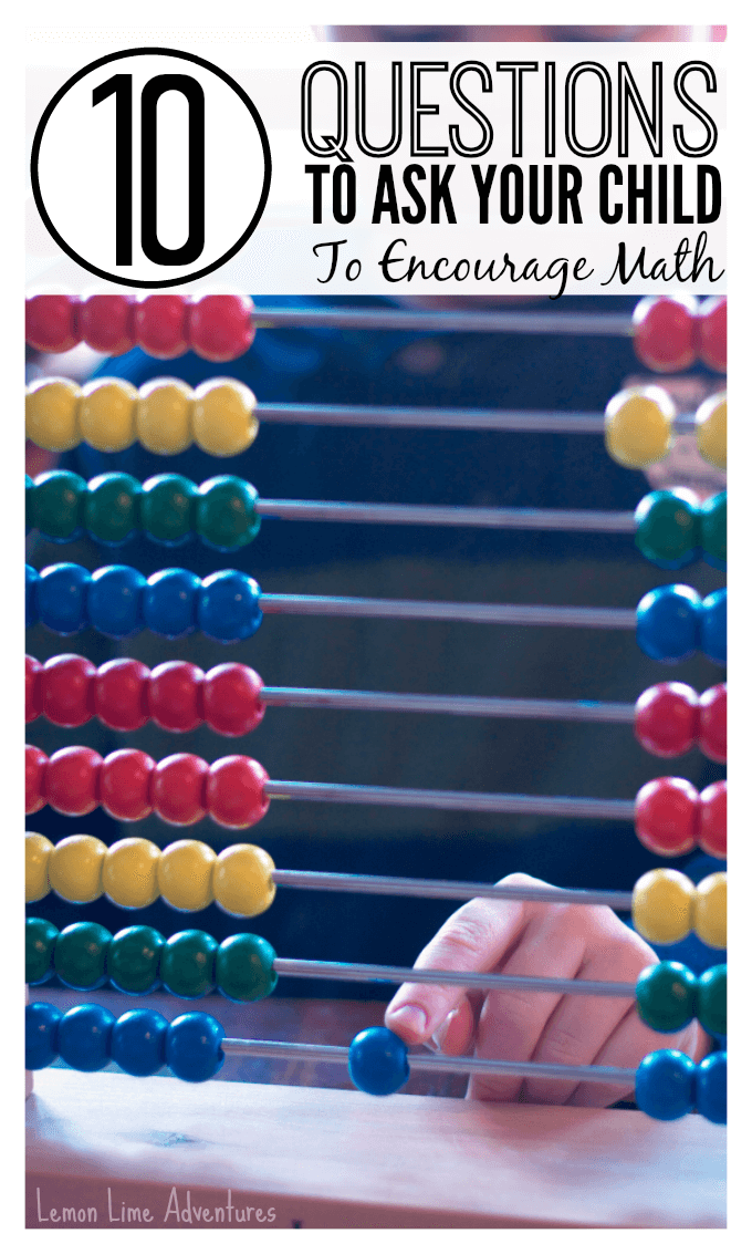 10 Questions to Ask Your Child to Encourage math