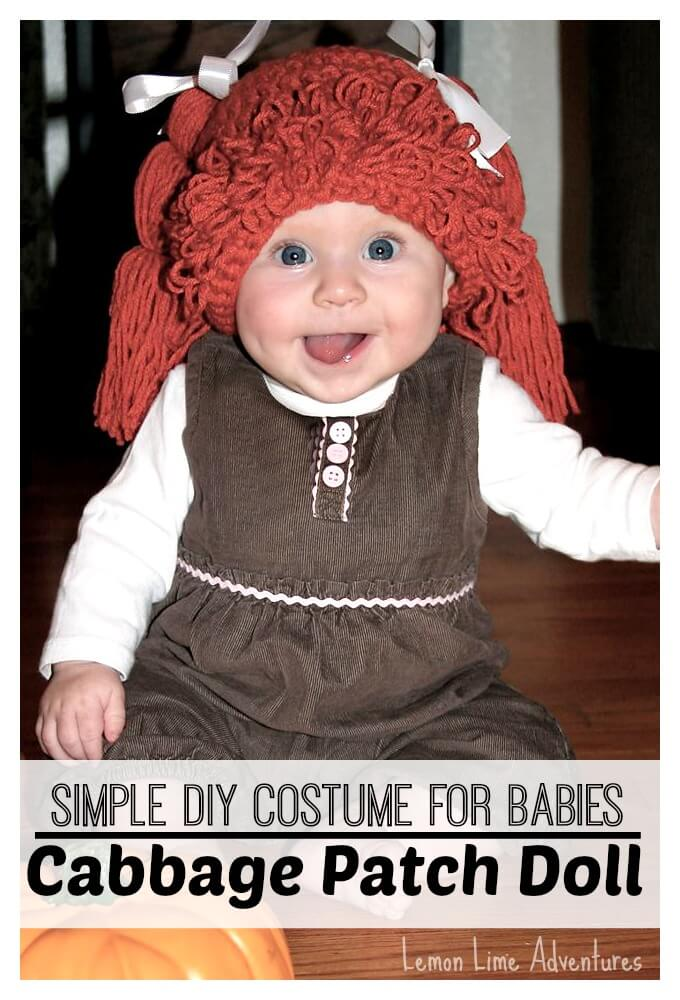 Simple cabbage patch doll costume for Cabbage patch halloween costume