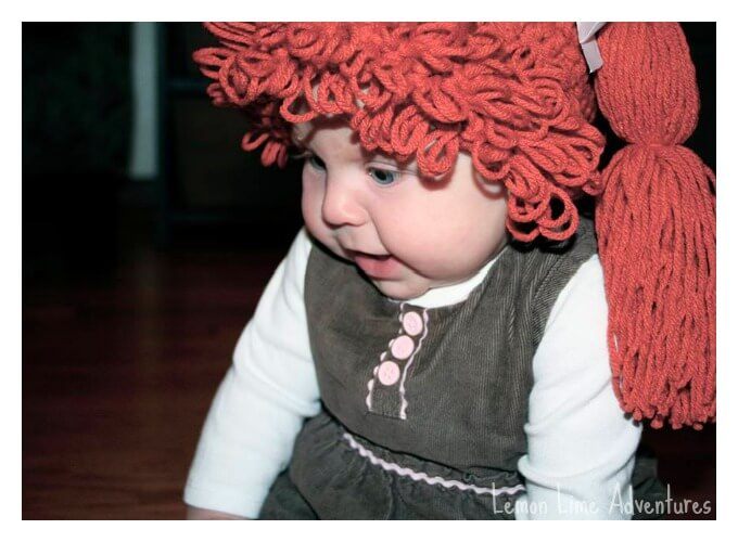 cabbage patch doll wig for baby