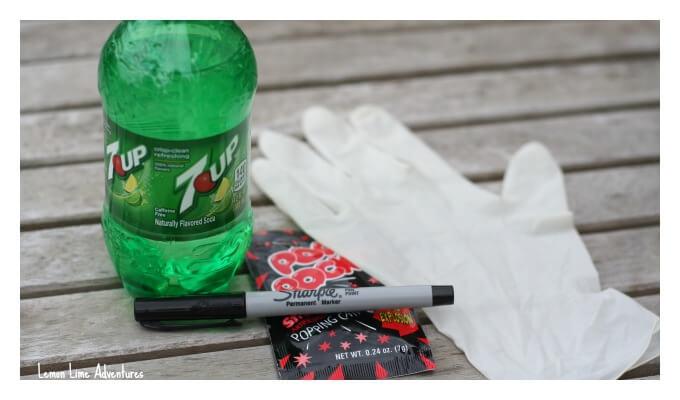 Halloween Pop Rocks and Soda Experiment