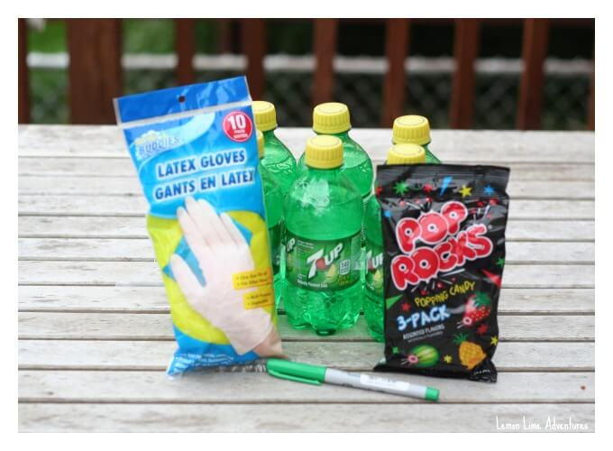 Pop Rocks and Soda Experiment Setup