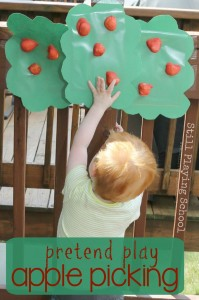 Toddler Sensory Play | Apple Picking