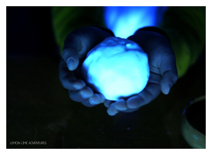 Glowing Playdough Experiments