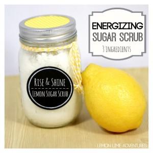 Energizing Lemon Sugar Scrub with Essential Oils