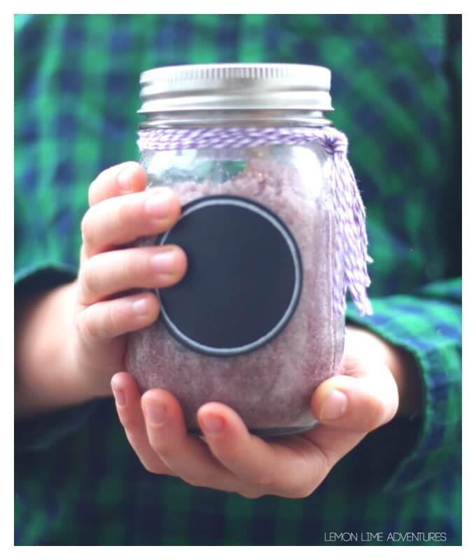 Lavender Sugar Scrub for Kids with Essential Oils