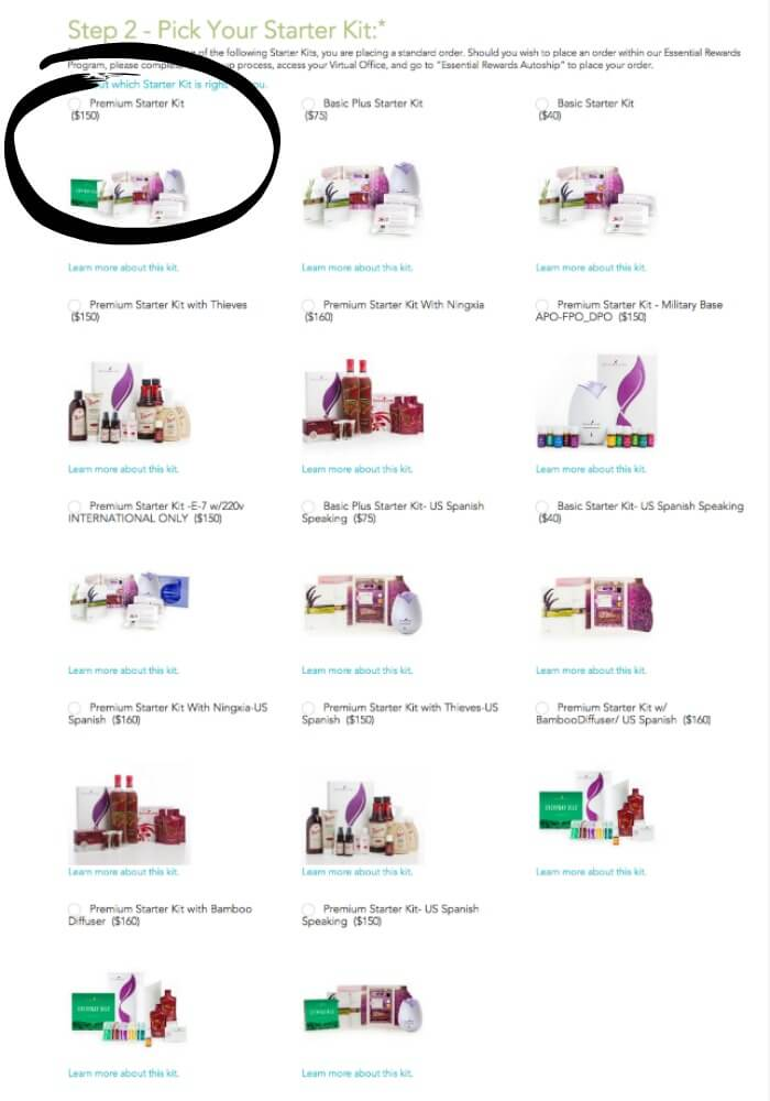 Young Living   Starter Kit Options