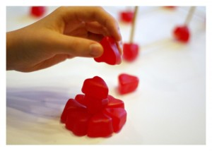 Building Structures with Candy Hearts