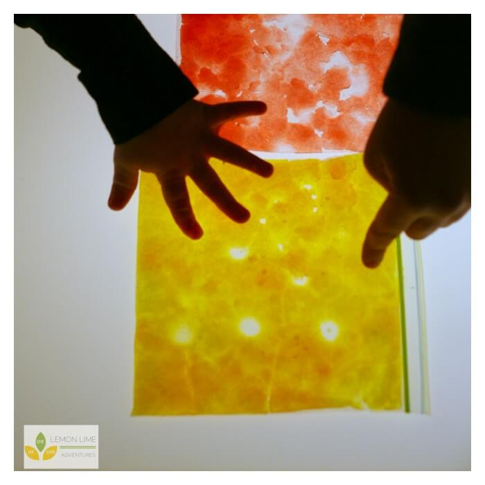 Exploring Light and Color with Snow Toddler Science