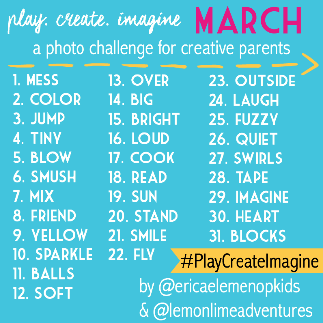 Instagram Photo Challenge to #PlayCreateImagine