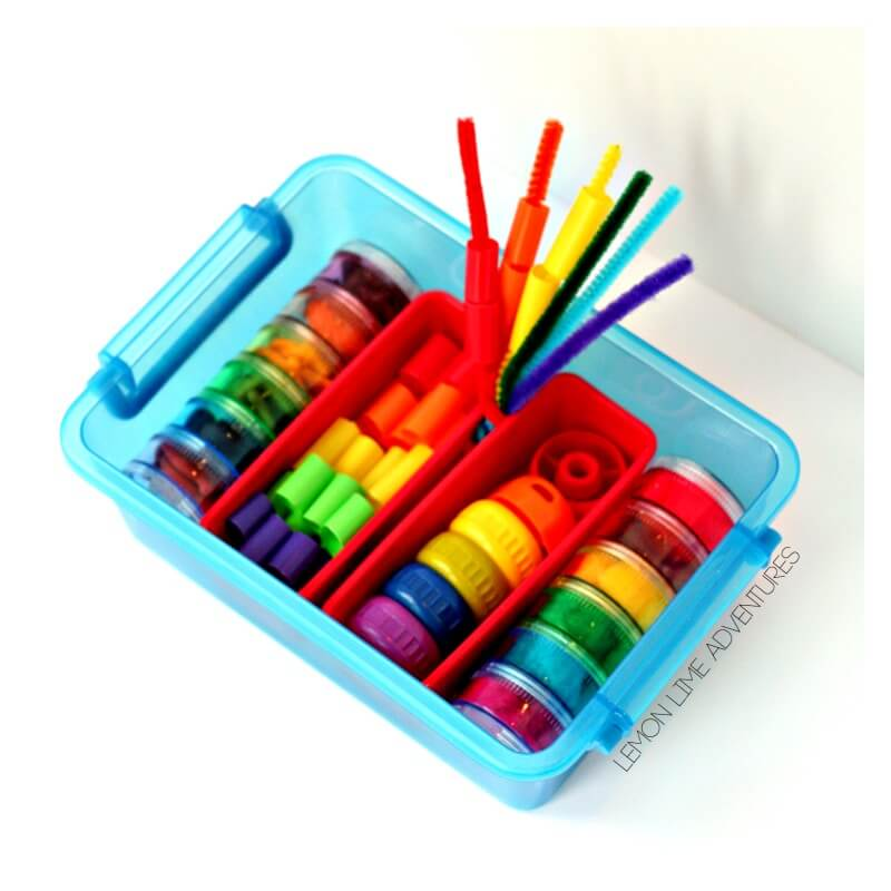 Toddler Rainbow Busy Box
