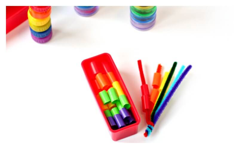 Toddler Rainbow Lacing Activity