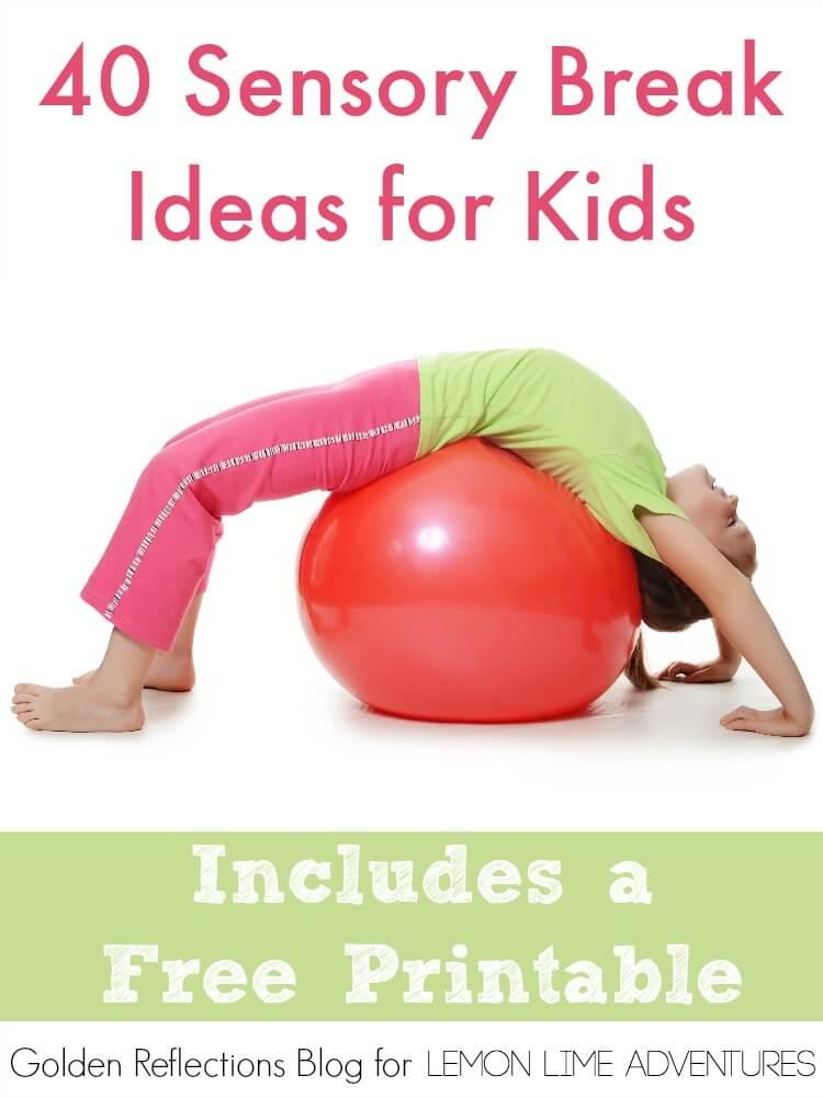 Classroom Break Ideas ~ Sensory break ideas for kids