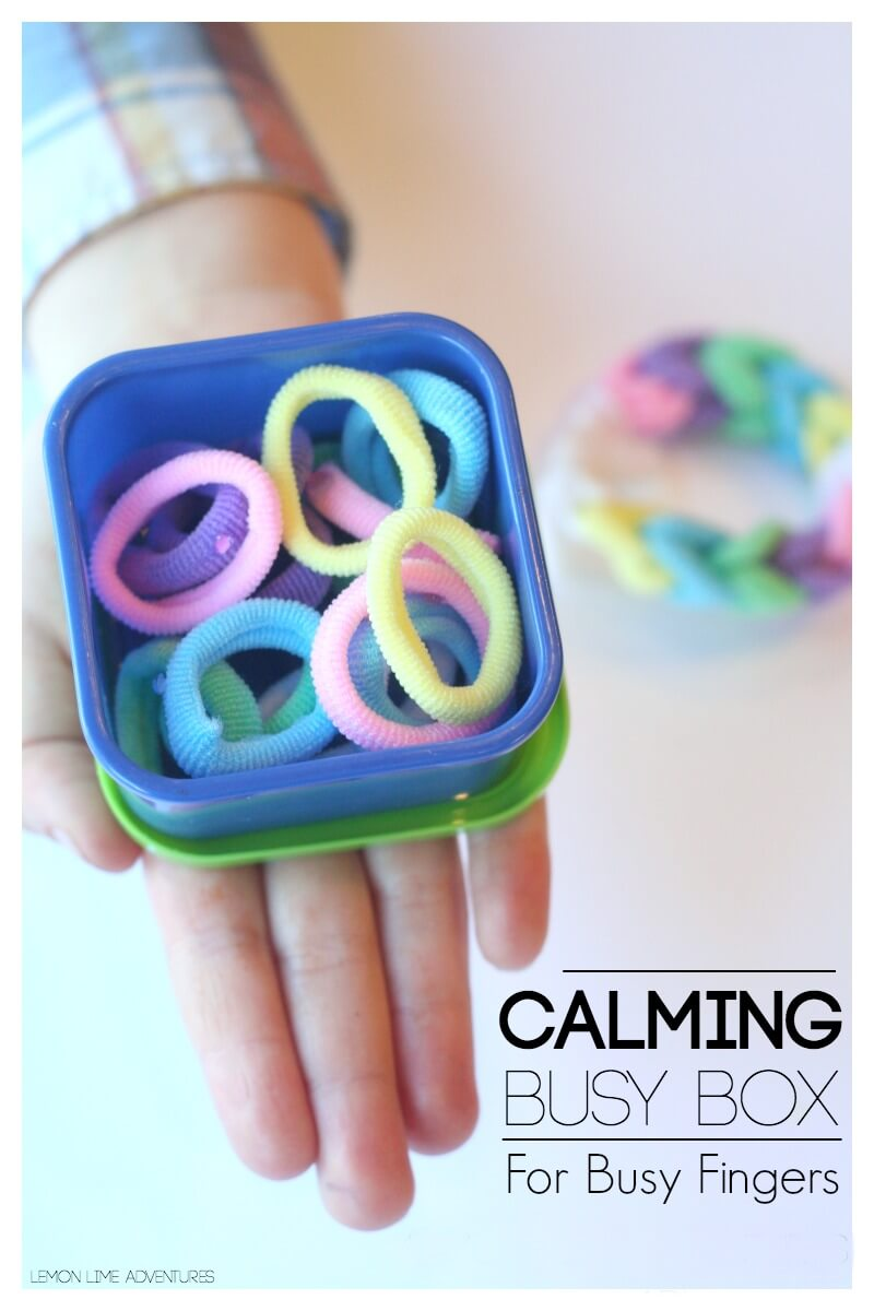 Calming Busy Box for Busy Fingers