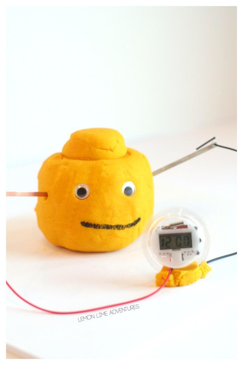 Electric Play Dough Lego Clock