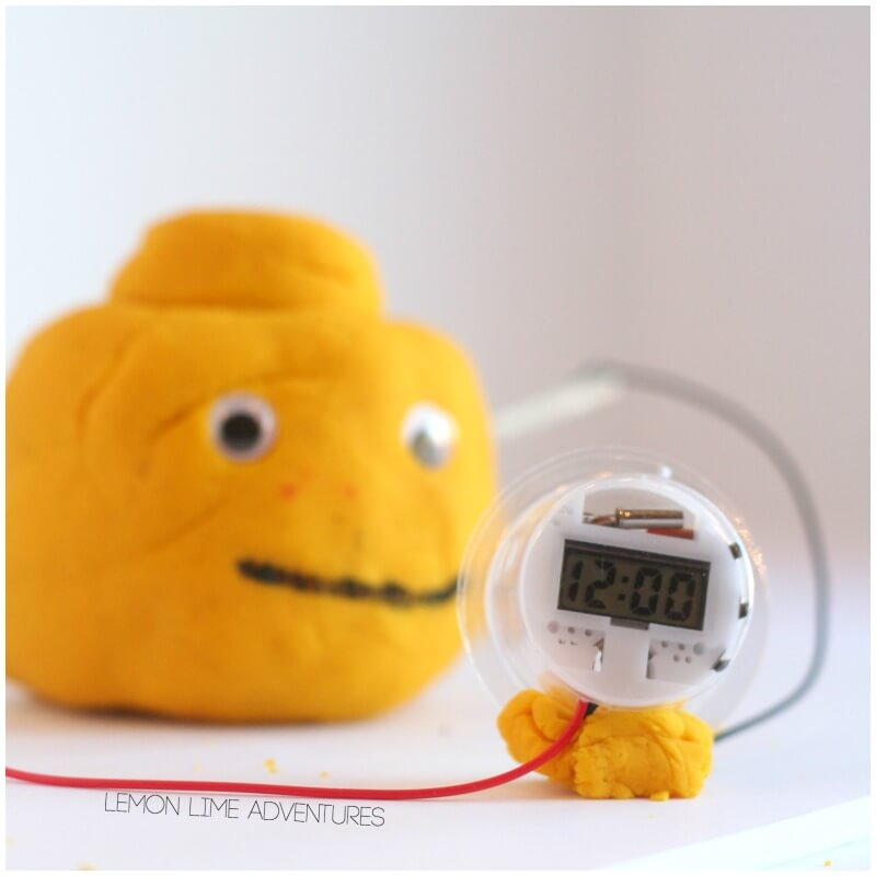 lectric Play Dough Powered Clock