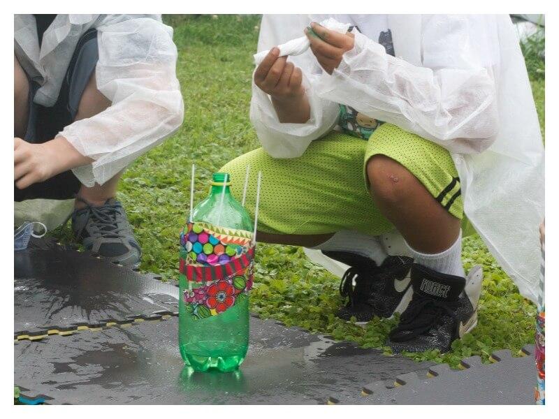 Baking Soda and Vinegar Bottle Rocket