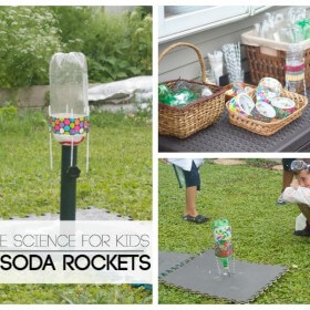 DIY Soda Rockets for Kids Featured