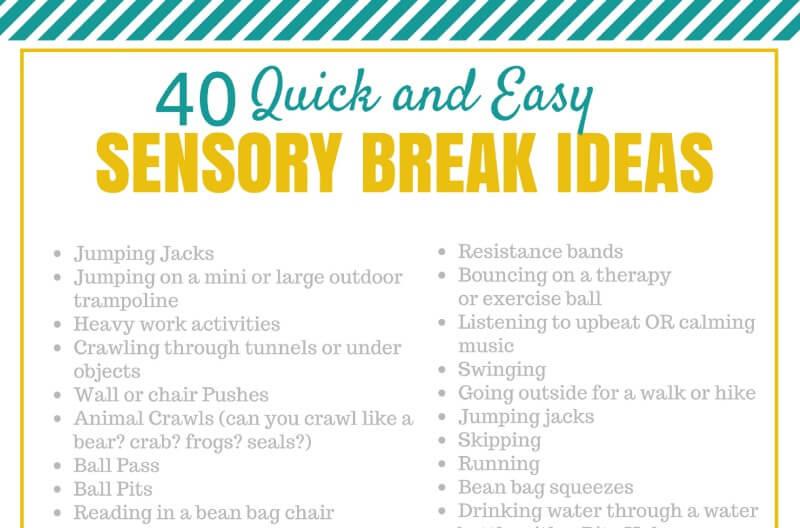 Simple Sensory Break Ideas