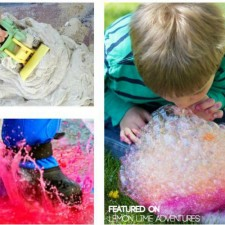 Messy Play Ideas for Outside Featured