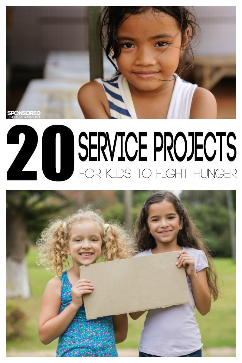 20 Service Project for Kids to Help Fight Hunger