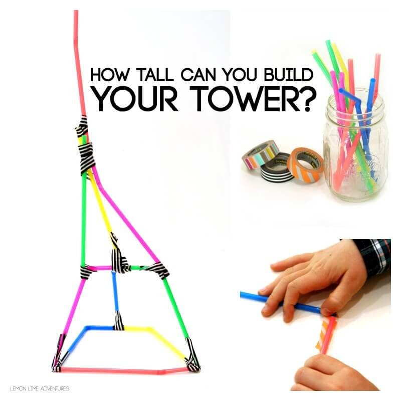 How tall can you build a tower with straws challenge