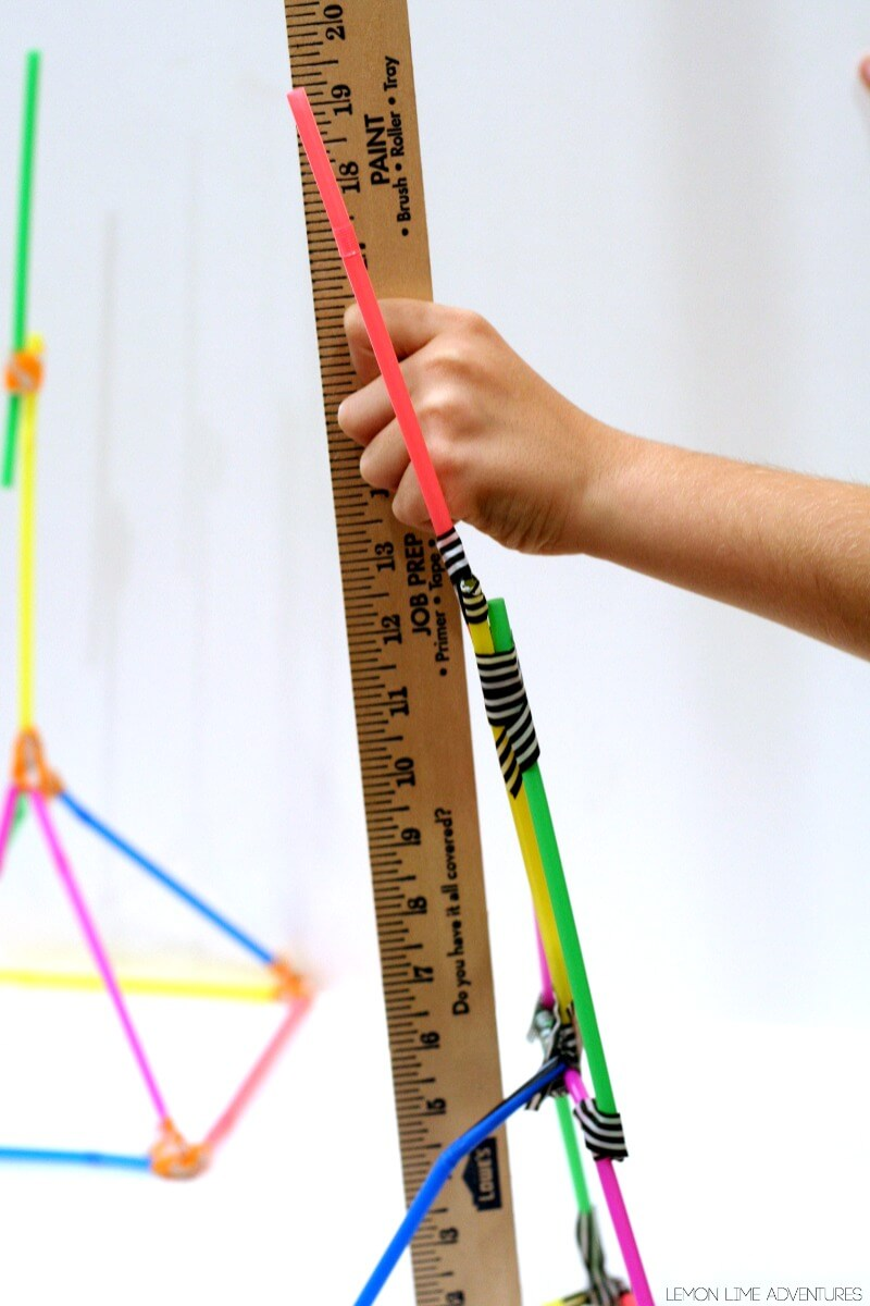 How tall of a tower can you make with 10 straws
