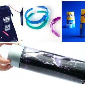 Recycled Crafts with Bathroom Items